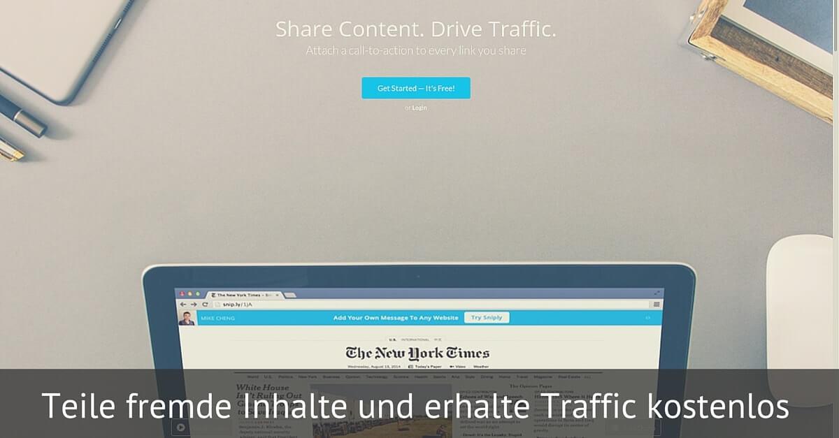 Traffic kostenlos mit Snip.ly