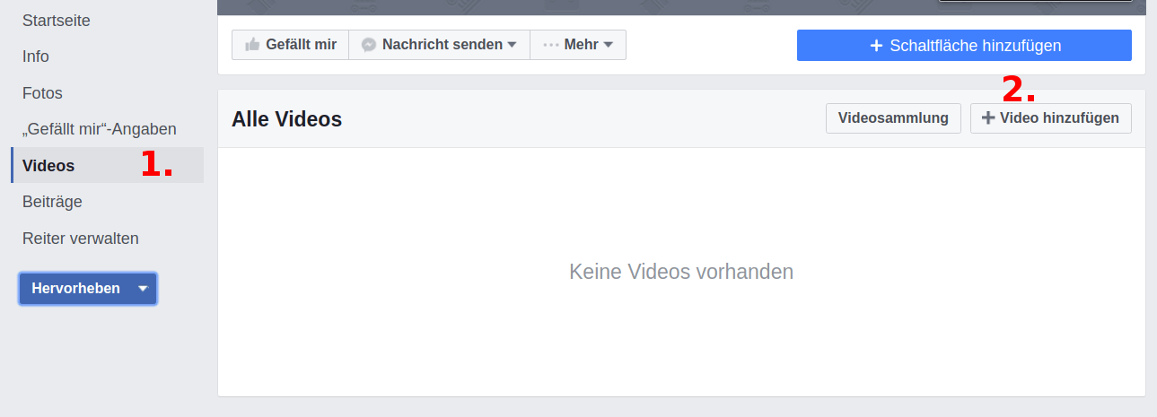 Facebook Video hochladen