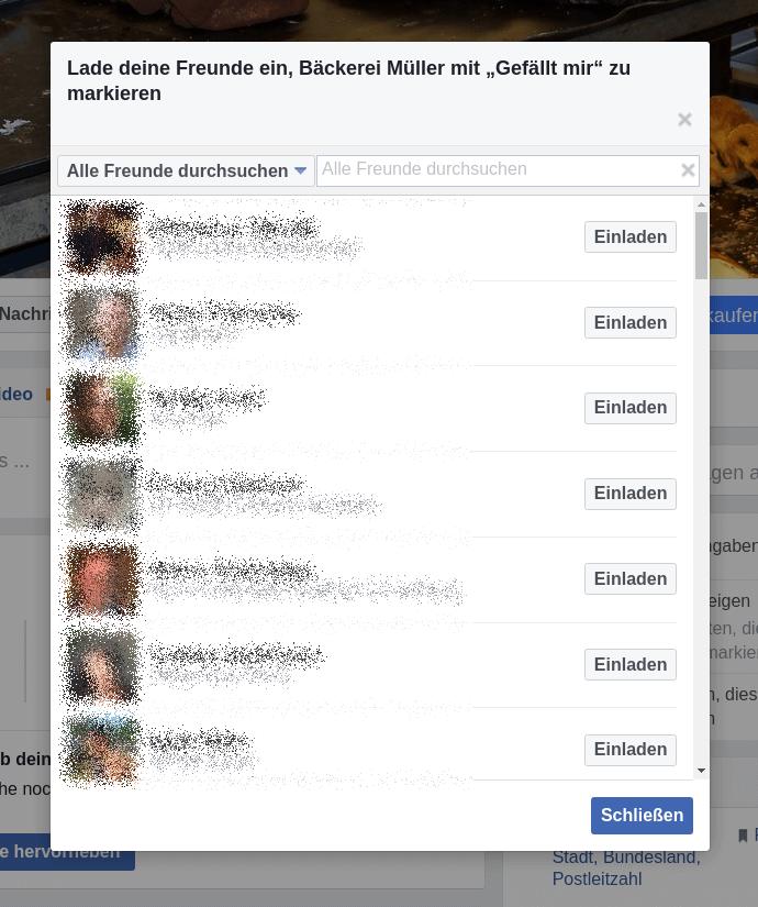 Lade deine Facebook-Freunde ein
