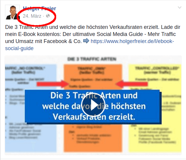 URL zum Facebook Video
