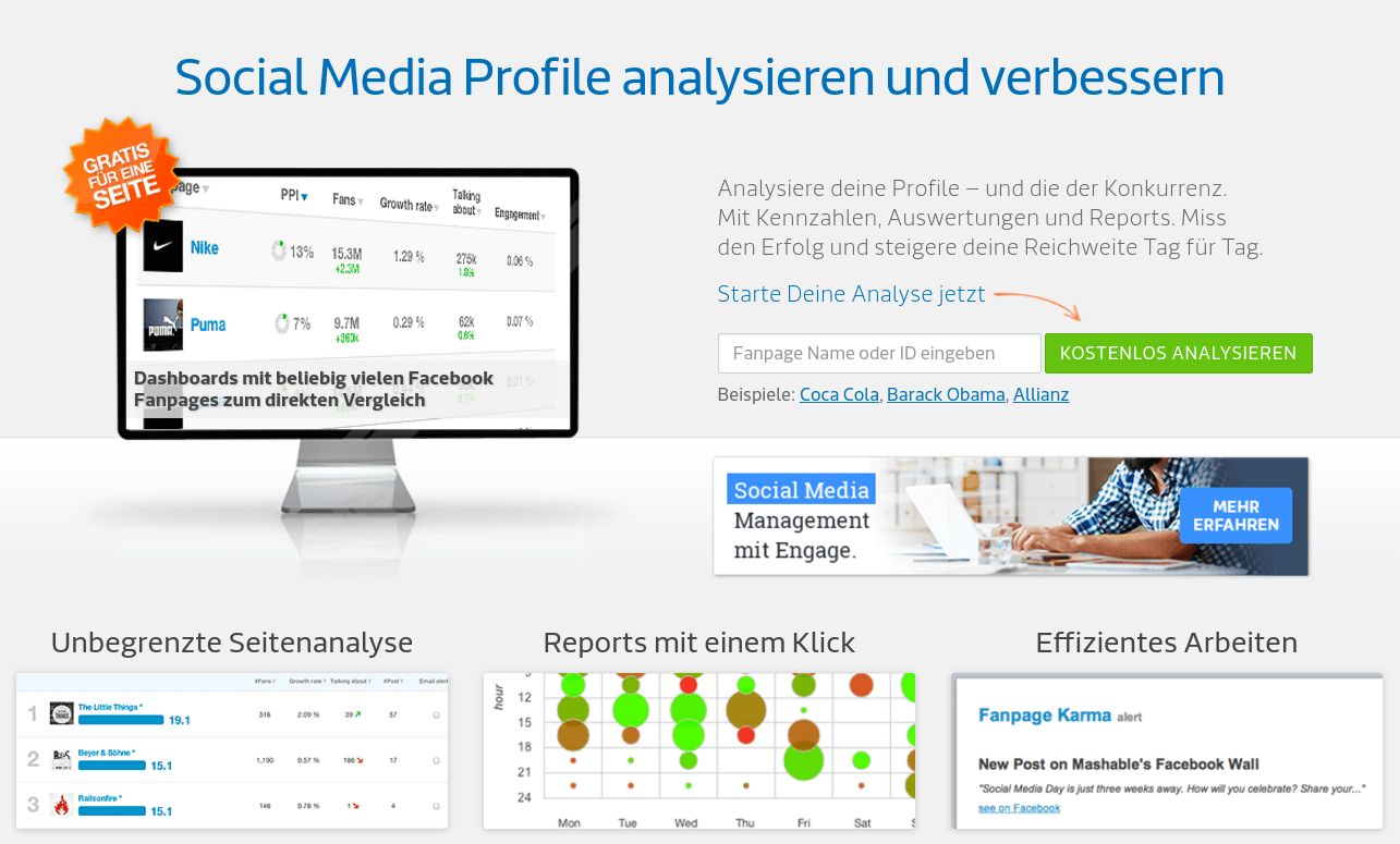 Fanpage Karma: Monitor Facebook Marketing - Statistics & Reports Tool