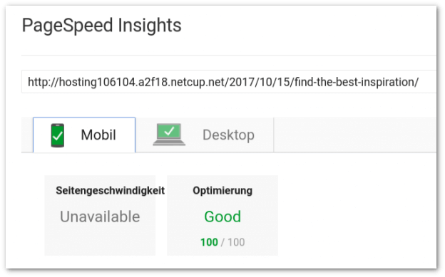 pagespeed 100 punkte optimieren mobil