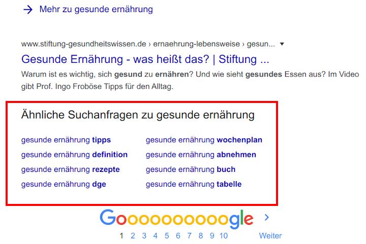 google-keyword-vorschläge